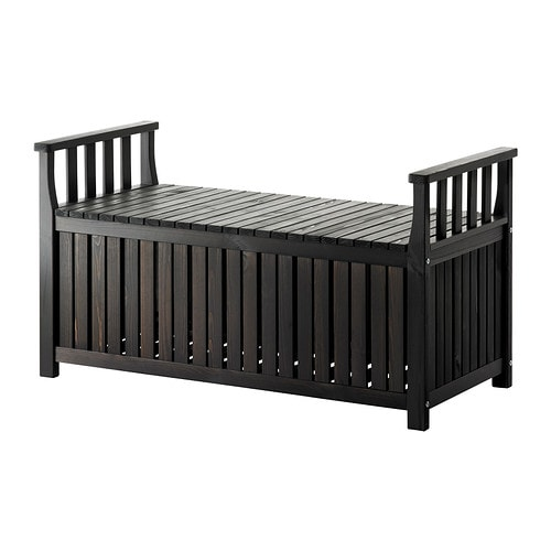 196 Ngs 214 Storage Bench Outdoor Black Brown Ikea
