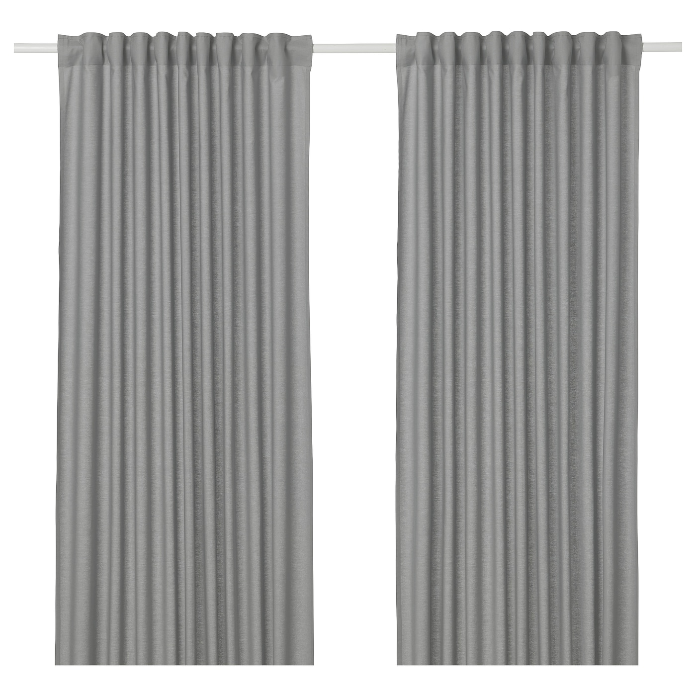 IKEA ANNALOUISA curtains, 1 pair The curtains can be used on a curtain rod or a curtain track.