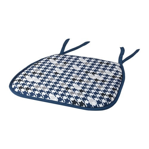 IKEA ANNVY chair pad Ties keep the chair pad in place. You can machine wash it.