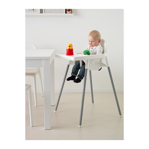 ikea antilop highchair with tray easy to disassemble and carry along. Black Bedroom Furniture Sets. Home Design Ideas