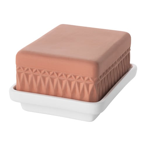 IKEA ANVÄNDBAR butter dish Perfect for serving charcuteries or cheese.