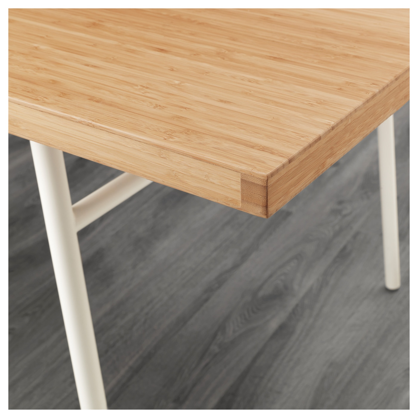 Anv ndbar table bamboo white 180 x 98 cm ikea for Ikea bamboo dining table