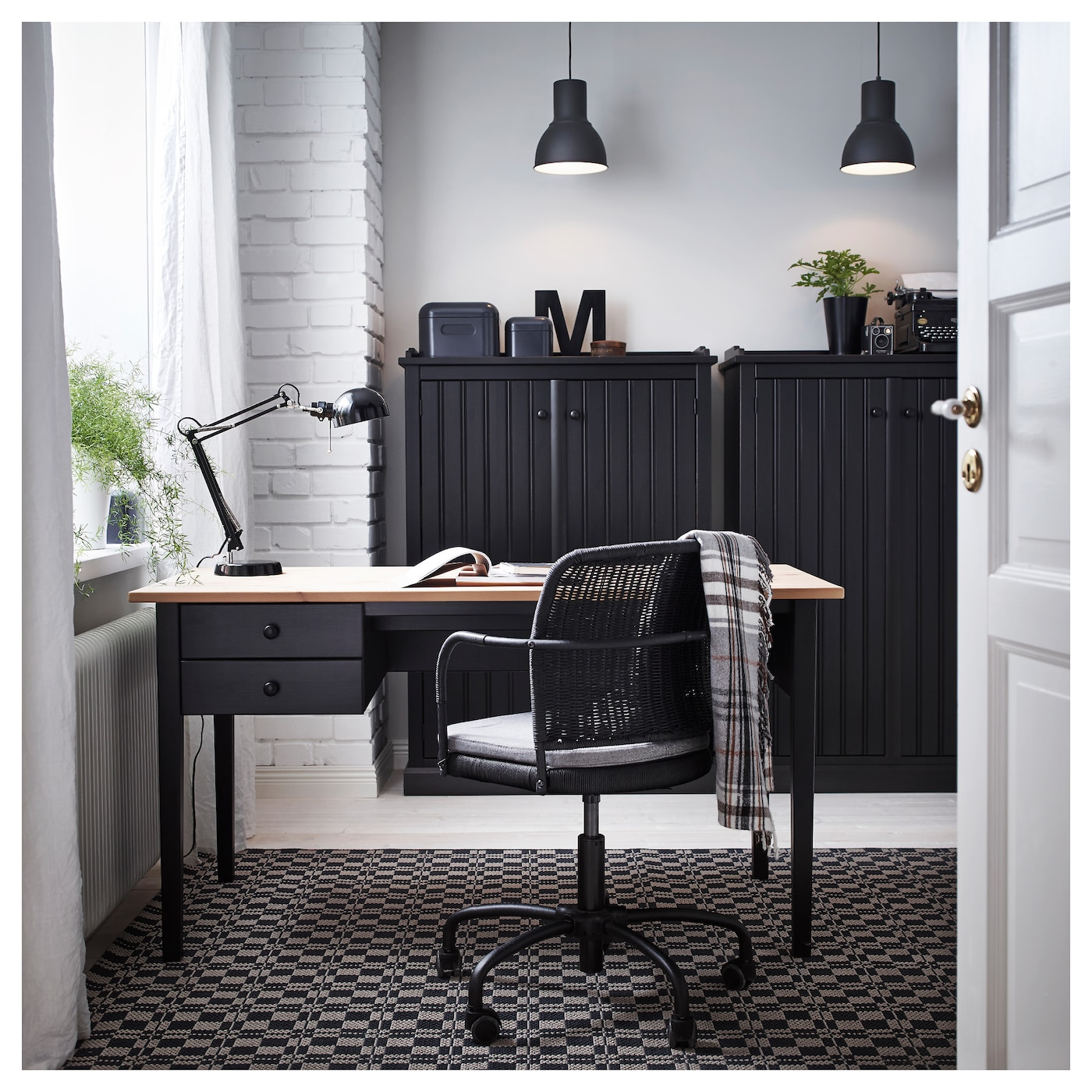 IKEA ARKELSTORP desk Solid wood is a durable natural material.