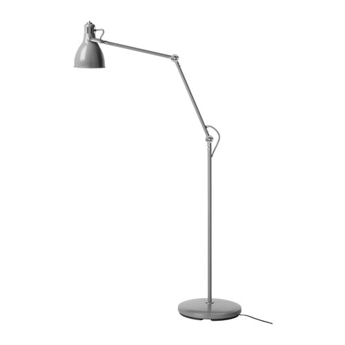 ARÖD Floor/reading lamp IKEA Adjustable arm and head for easy directing of light.  Directed light; gives a good concentrated beam of light for reading.