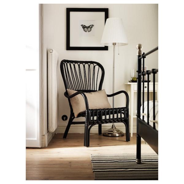 ÅRSTID Floor lamp, nickel-plated/white