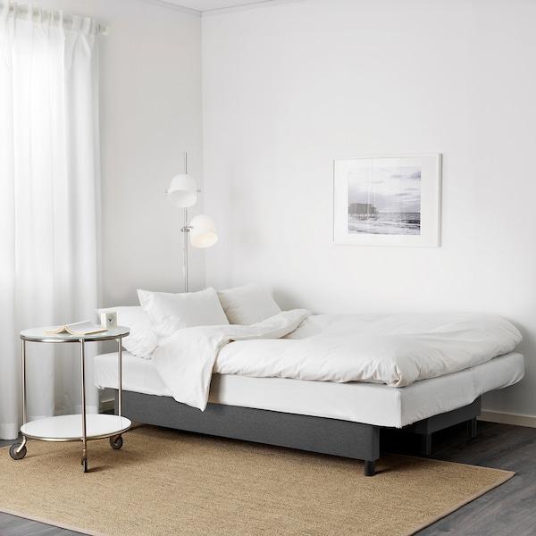ASARUM 3-seat sofa-bed, Knisa dark grey