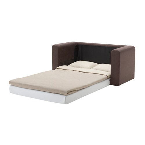 Askeby two seat sofa bed tullinge grey brown ikea for Sofa bed 2 seater ikea