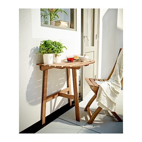 Askholmen balcony table grey brown stained 70x44 cm ikea - Askholmen tavolo ikea ...