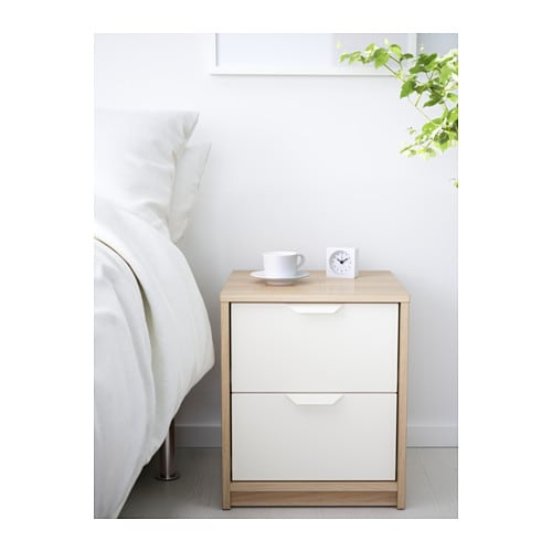 IKEA ASKVOLL chest of 2 drawers Smooth running drawers with pull-out stop.