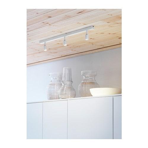 lampadina ikea : BaVE LED ceiling track, 3-spots White - IKEA