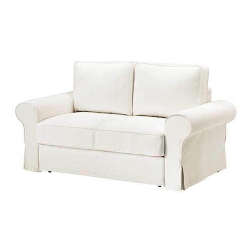 Backabro two seat sofa bed cover hylte white ikea