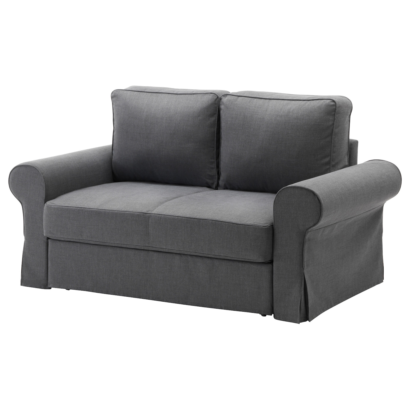 Backabro two seat sofa bed nordvalla dark grey ikea - Petit canape convertible 2 places pas cher ...