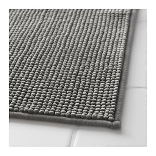 Badaren bath mat grey 40x60 cm ikea for Grey rug ikea