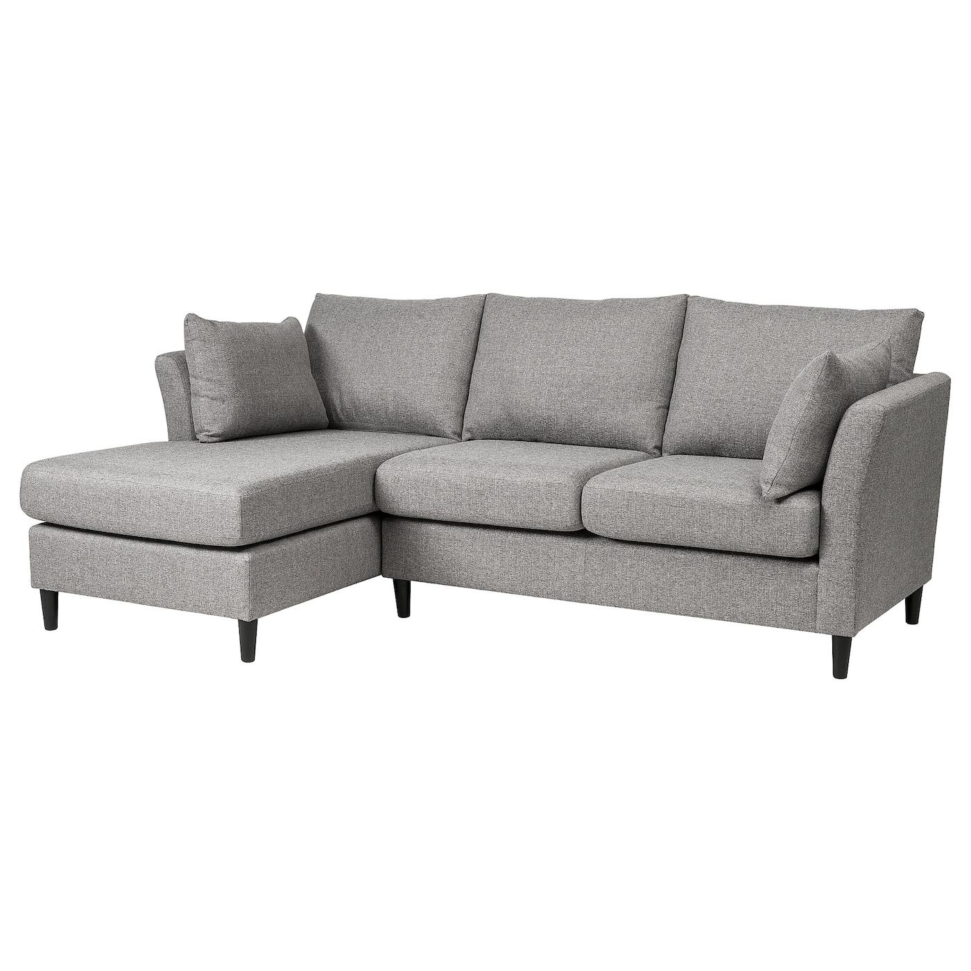 bankeryd 2 seat sofa w chaise longue left grey ikea. Black Bedroom Furniture Sets. Home Design Ideas