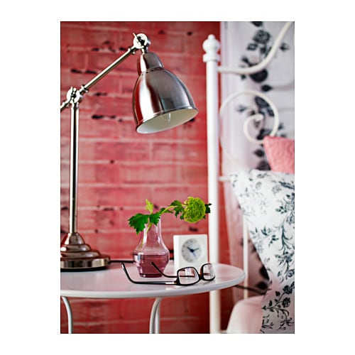 IKEA BAROMETER work lamp Provides a directed light that is great for reading.