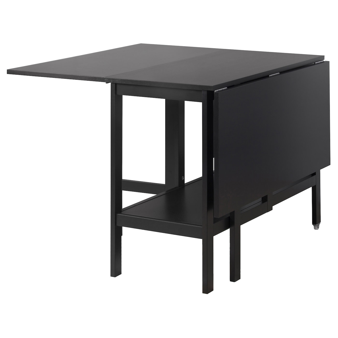 BARSVIKEN Drop leaf table Black 45 90 135x93 cm IKEA