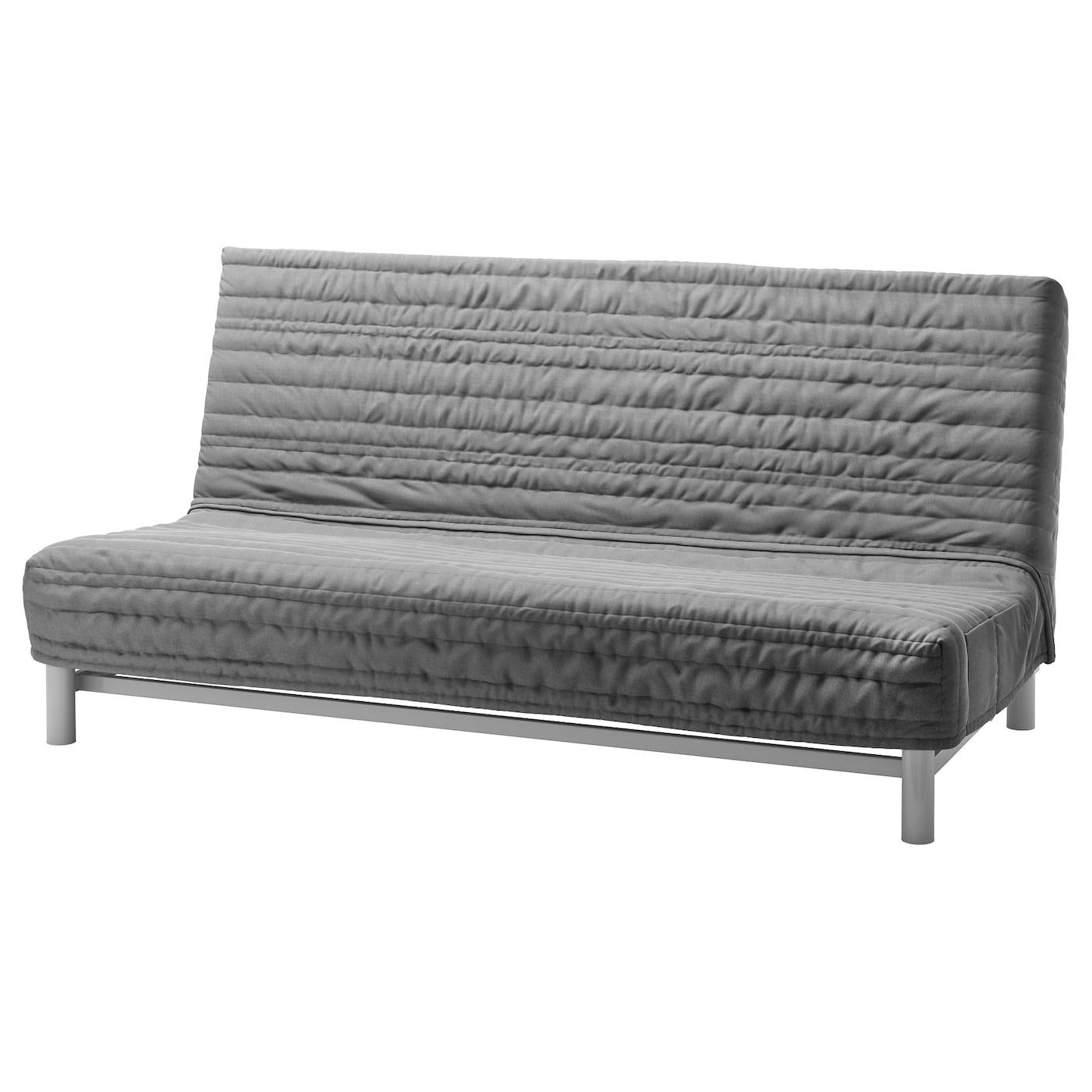 Schlafsofa ikea beddinge  BEDDINGE Three-seat sofa-bed cover Knisa light grey - IKEA