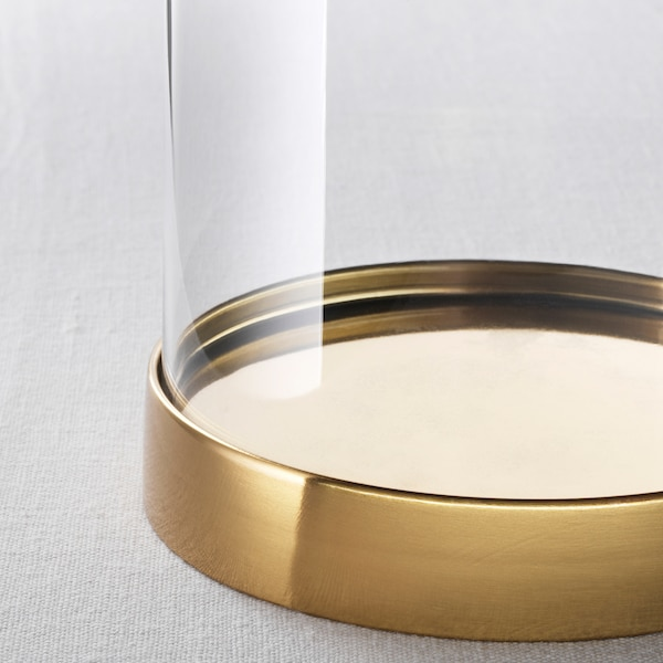 BEGÅVNING glass dome with base 19 cm