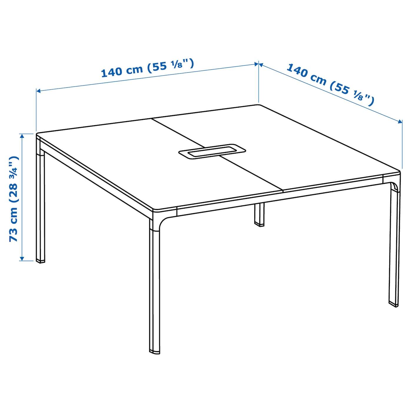 Konferenztisch Ikea bekant conference table black brown black 140x140 cm ikea