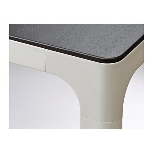 Bekant conference table black brown white 140x70 cm ikea for Table 140x140