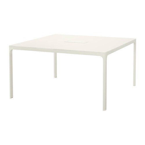 Bekant Conference Table White 140 X 140 Cm Ikea