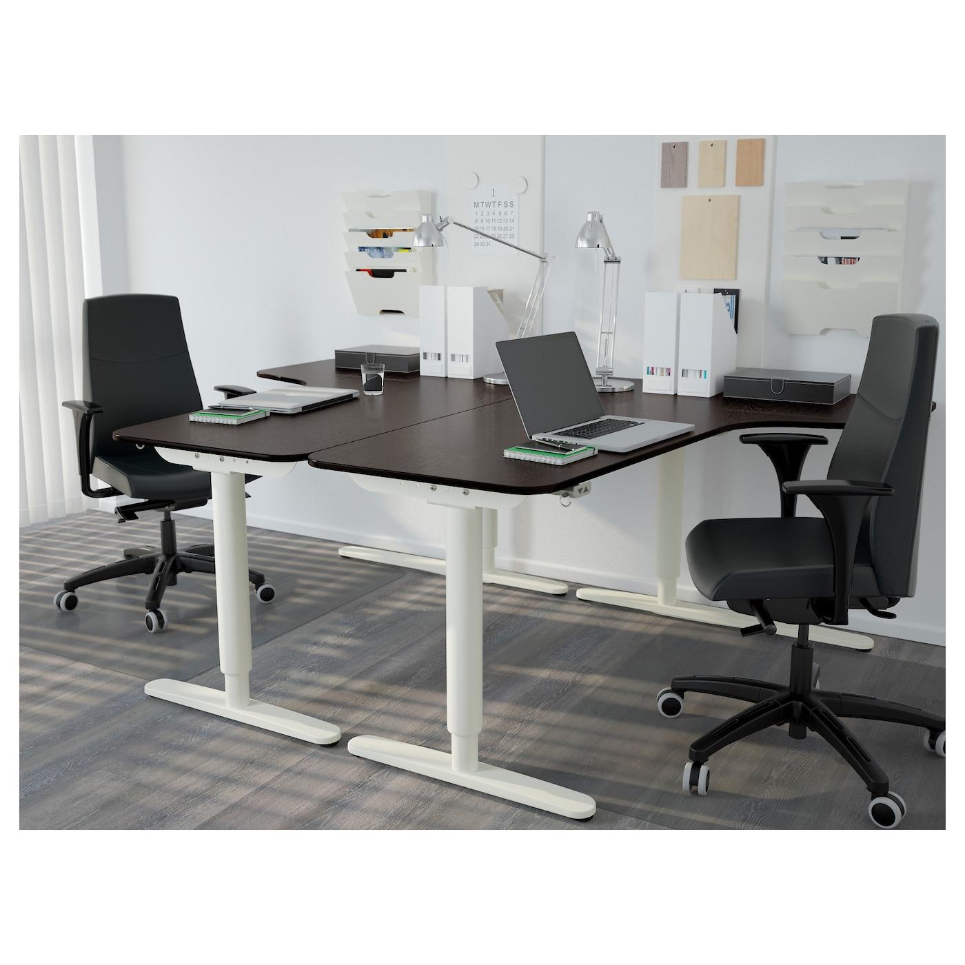 bekant corner desk left black brown white 160 x 110 cm ikea. Black Bedroom Furniture Sets. Home Design Ideas