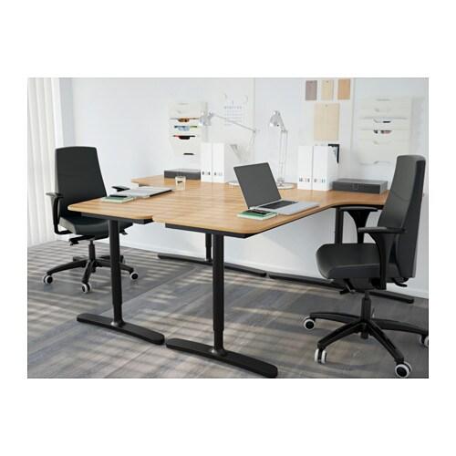 bekant corner desk left oak veneer black 160x110 cm ikea. Black Bedroom Furniture Sets. Home Design Ideas