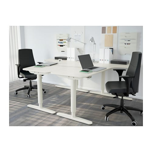 bekant corner desk left sit stand white 160x110 cm ikea. Black Bedroom Furniture Sets. Home Design Ideas