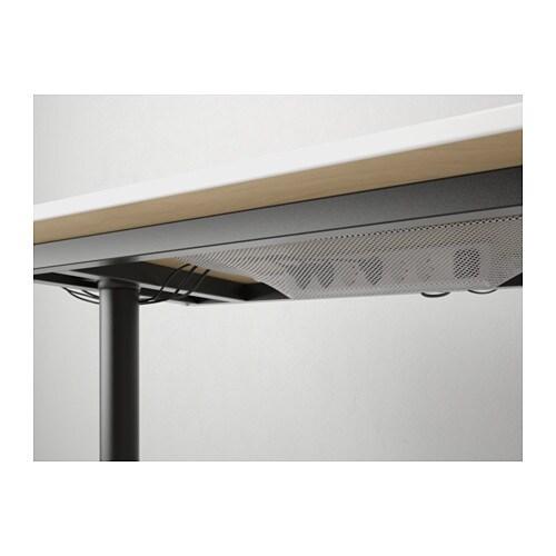 BEKANT Corner desk right Birch veneer black 160x110 cm IKEA