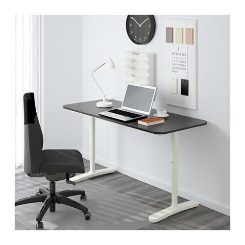 bekant desk black brown white 140x60 cm ikea