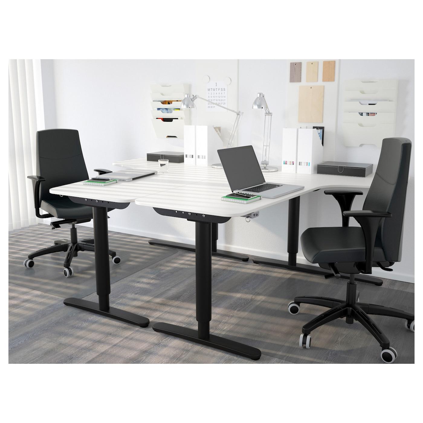 Bekant Left Hand Corner Table Top White 160x110 Cm Ikea Ireland