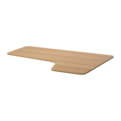 IKEA BEKANT right-hand corner table top