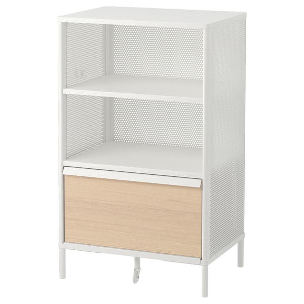 BEKANT Storage unit on legs, mesh white, 61x101 cm
