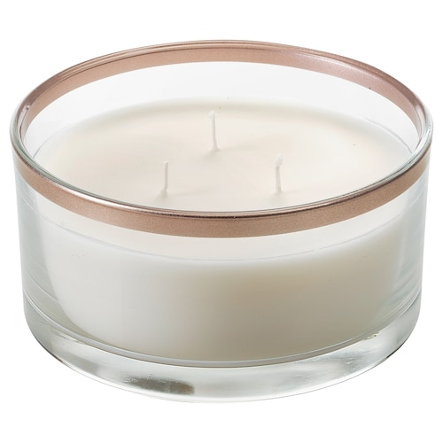 IKEA BEKIKA Scented candle in glass, 3 wicks