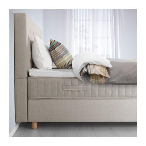 ... Divan bed Hesseng firm/tromsdalen natural colour Standard King - IKEA