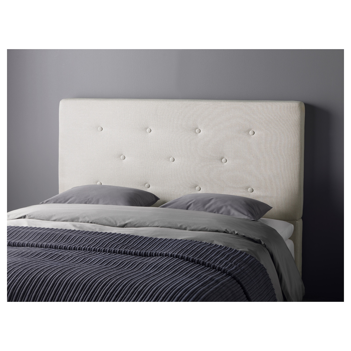 Bekkestua headboard natural colour standard double ikea - Coussins tete de lit ikea ...