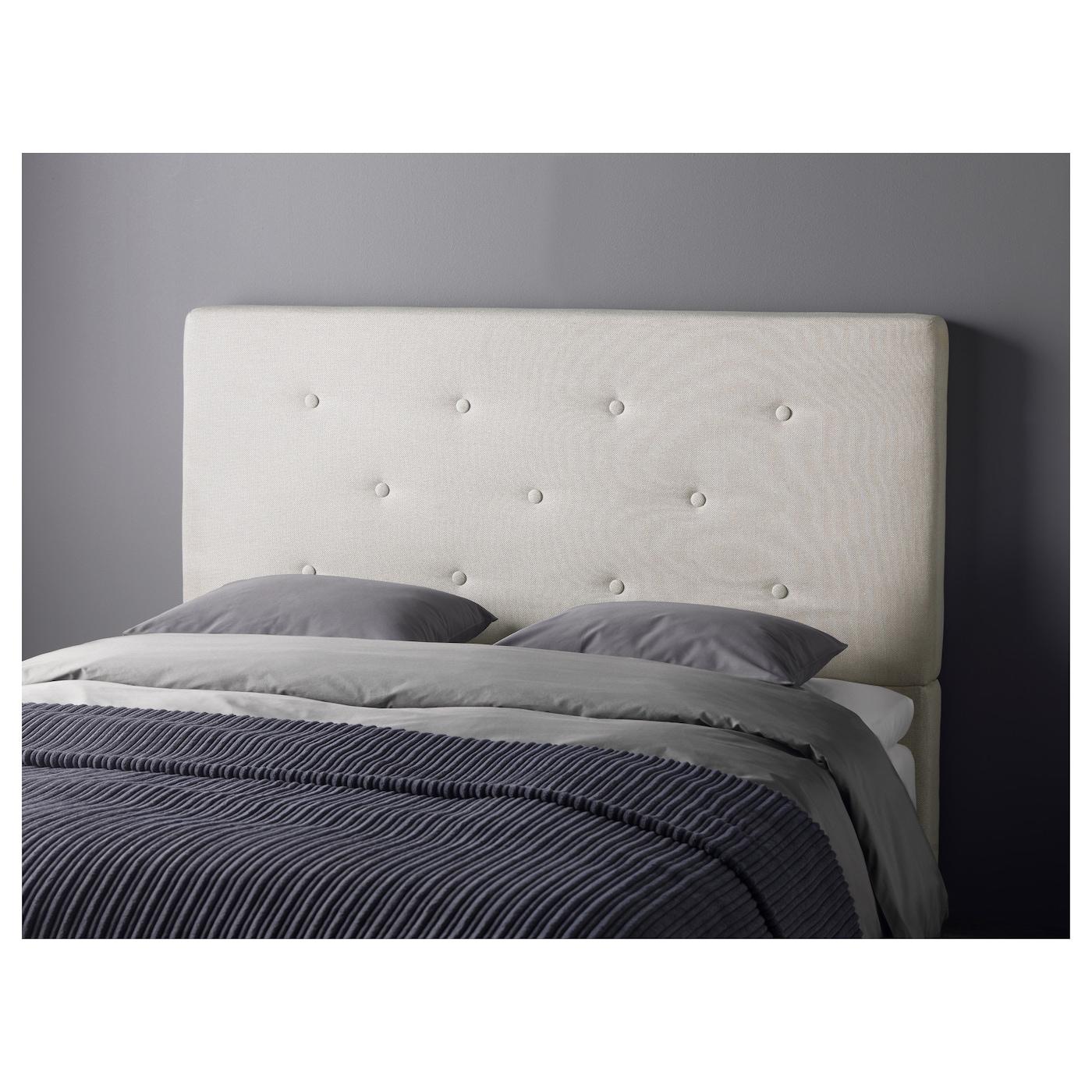 Bekkestua headboard natural colour standard double ikea - Ikea tete de lit bois ...