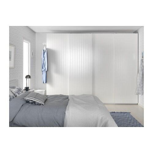 BERGSFJORD Pair of sliding doors White 150x201 cm - IKEA