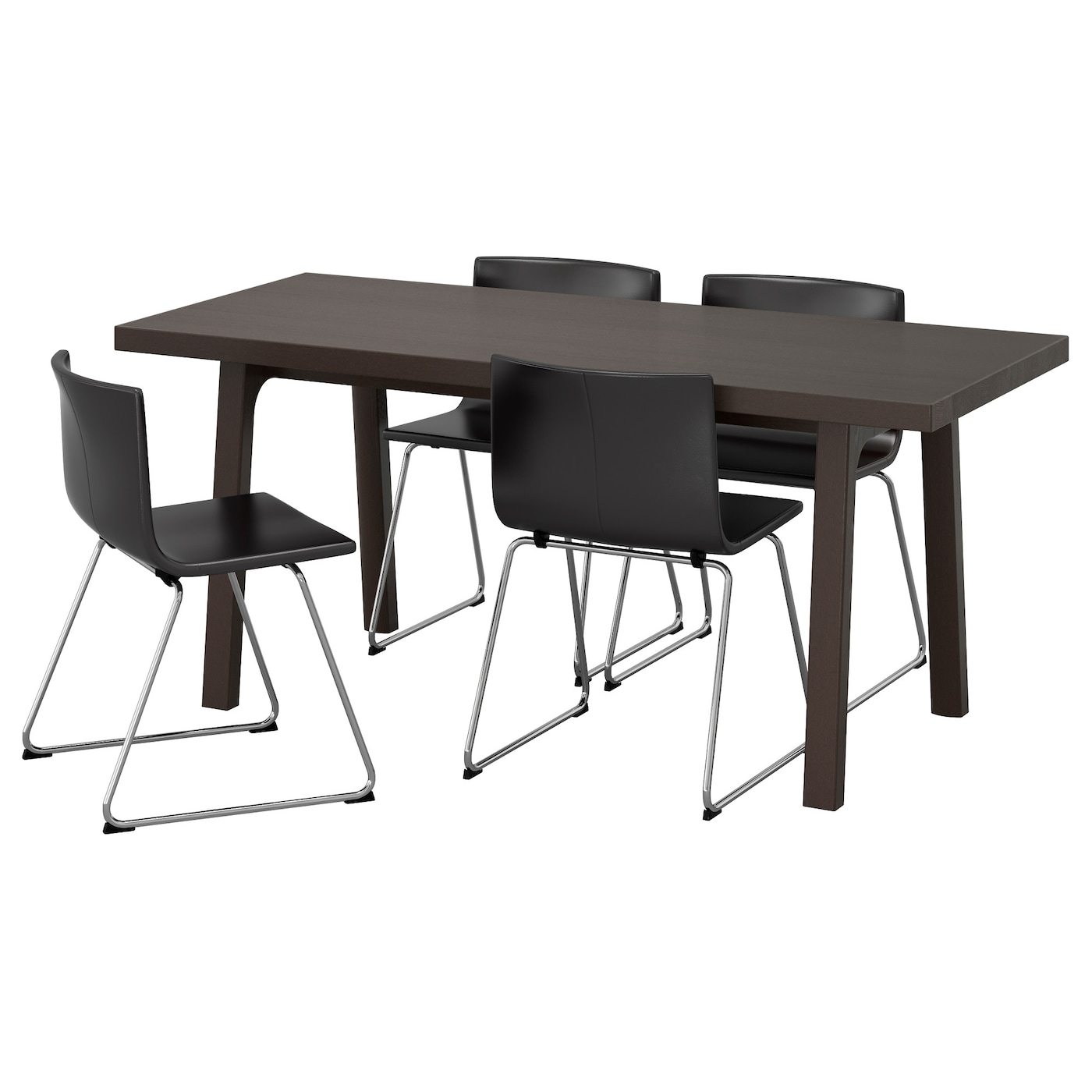 Bernhard V Stanby V Stan Table And 4 Chairs Dark Brown