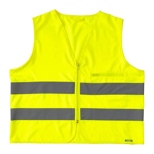 IKEA BESKYDDA high visibility vest Folds small enough to fit in your coat pocket or bag.