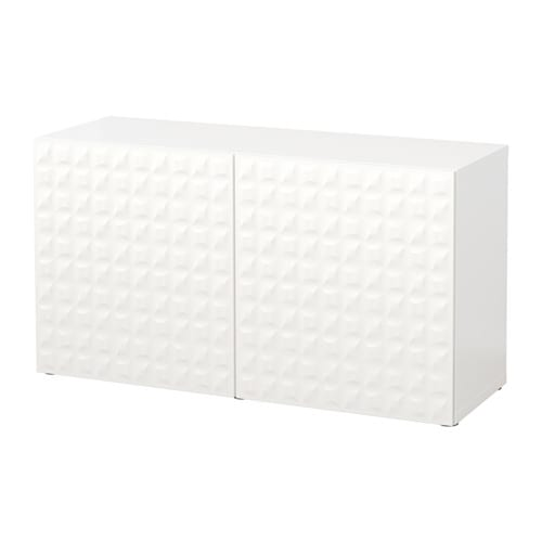 BEST Shelf Unit With Doors Djupviken White 120x40x64 Cm IKEA