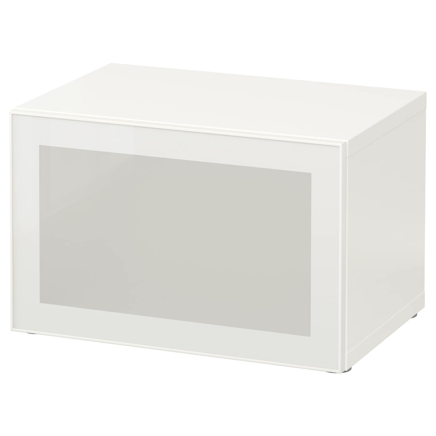 best shelf unit with glass door white glassvik white frosted glass 60x40x38 cm ikea. Black Bedroom Furniture Sets. Home Design Ideas