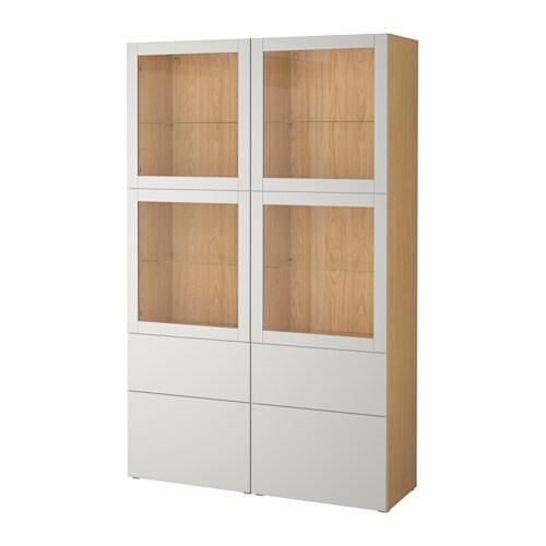 BEST197 Storage combination w glass doors Oak effect sindvik  : bestC3A5 storage combination w glass doors oak effect sindvik lappviken light grey clear glass0494140pe626793s4 from www.ikea.com size 500 x 500 jpeg 24kB