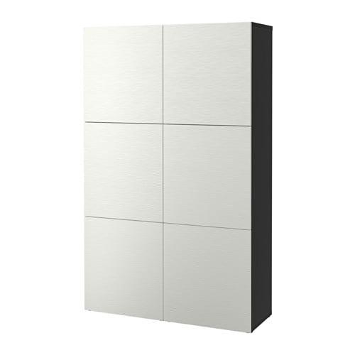 BESTÅ Storage Combination With Doors Black-brown/laxviken