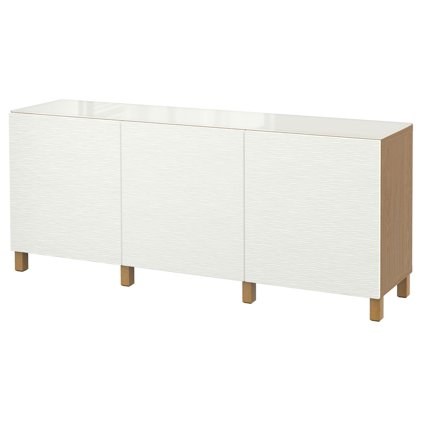 Best storage combination with doors oak effect laxviken for White gloss sideboards at ikea
