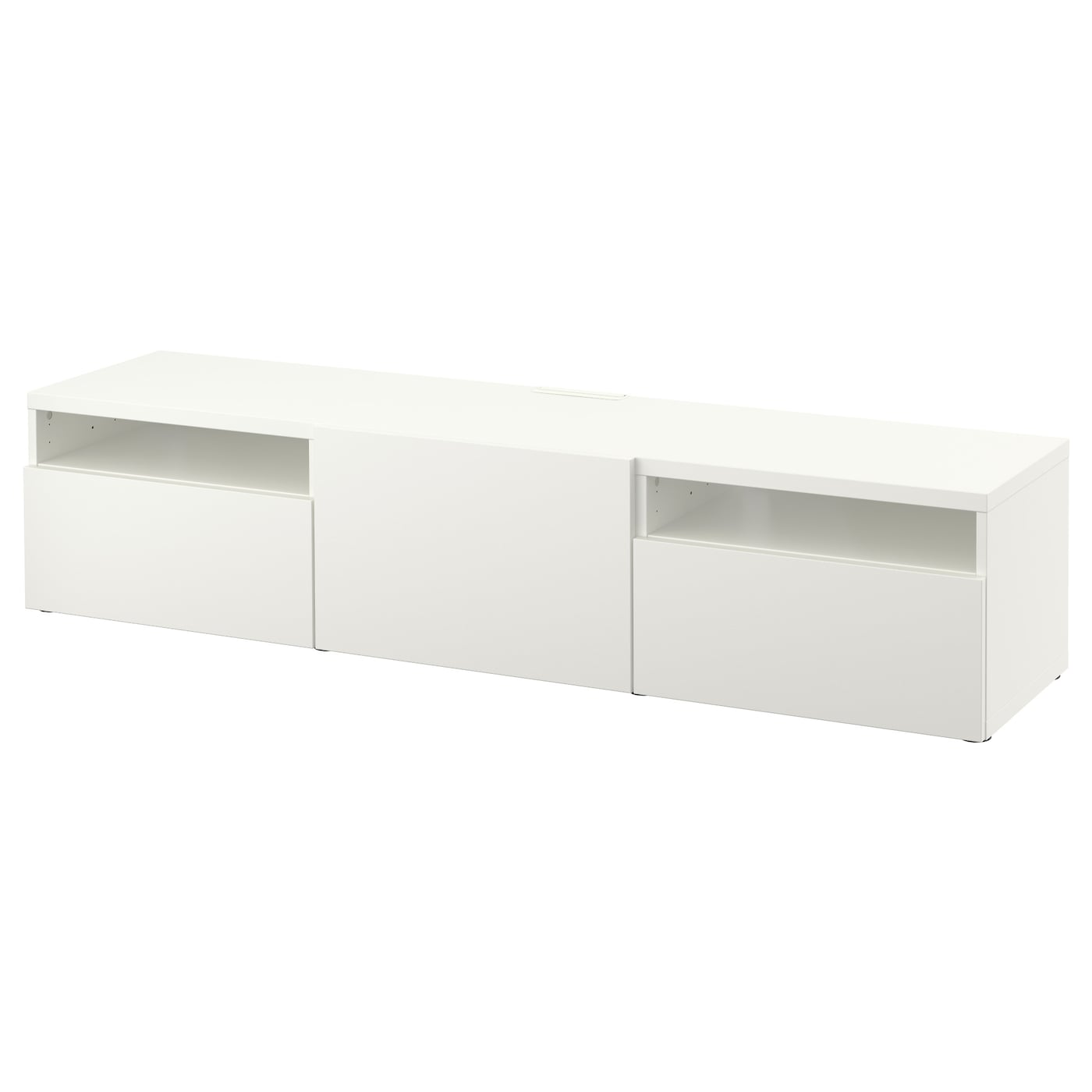 Best tv bench lappviken white 180x40x38 cm ikea - Ikea tv wand ...