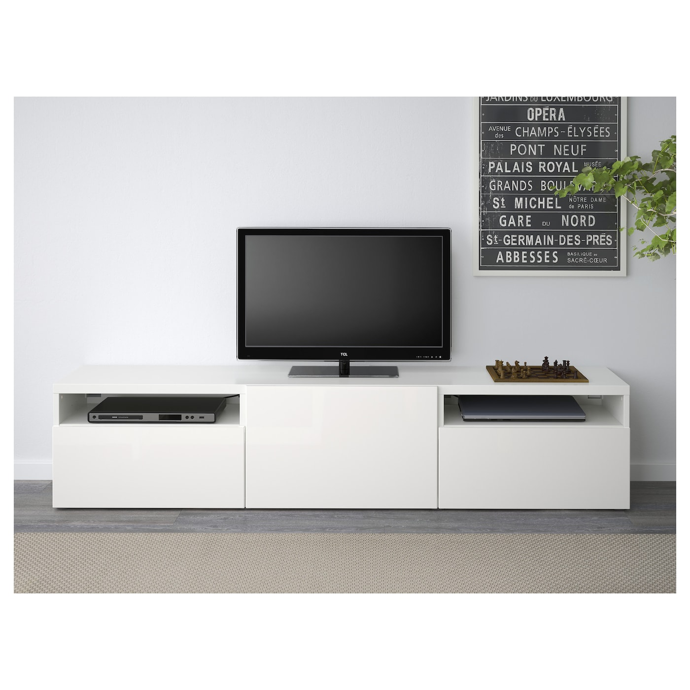 Best Tv Bench White Selsviken High Gloss White 180x40x38 Cm Ikea
