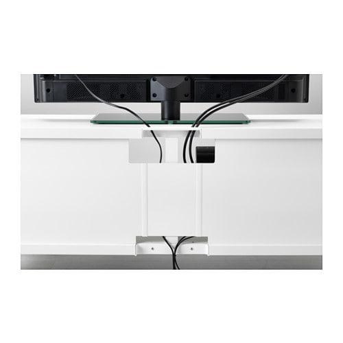 BESTÅ TV bench White 120x40x48 cm  IKEA -> Panneau Mural Tv Ikea