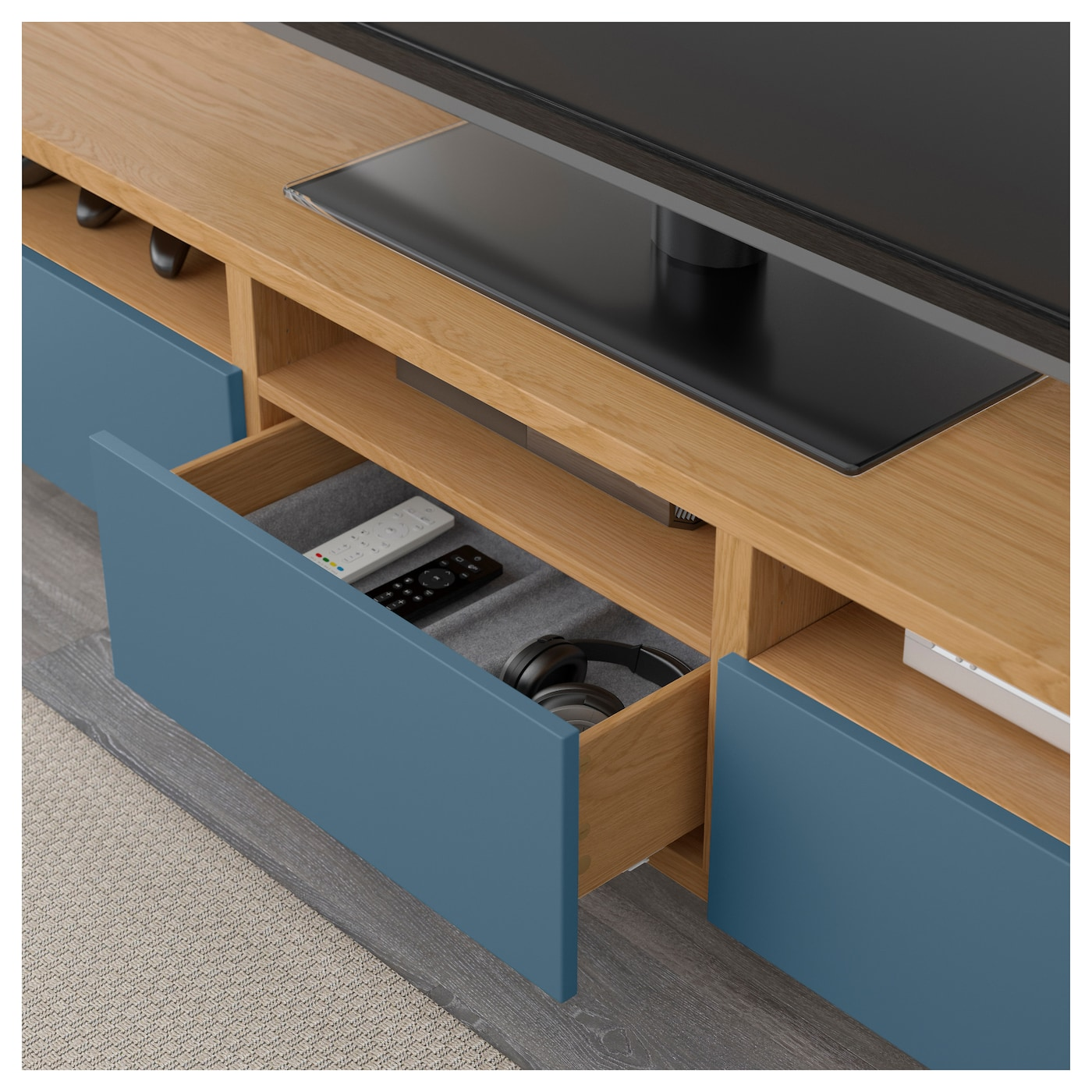 Ikea Best Tv Bench With Drawers Three Large Drawers Make