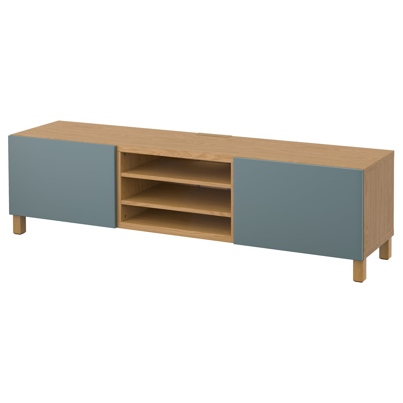 Best Tv Bench With Drawers Oak Effect Valviken Grey Turquoise 180x40x48 Cm Ikea